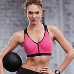 Victorias Secret VSX Front Zip Closure Sports Bra